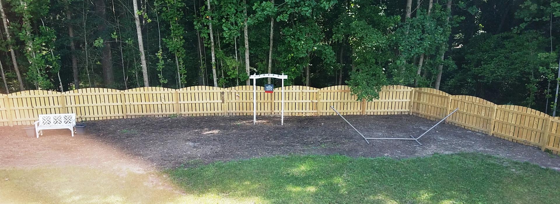 yard wood fence